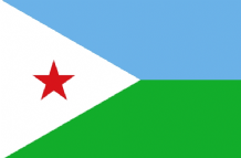 DJIBOUTI - HAND WAVING FLAG (MEDIUM)